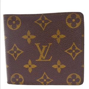 LOUIS VUITTON vintage Bifold Wallet Purse Monogram